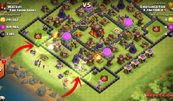El jugon de movil atacar aldeas antigolems 7