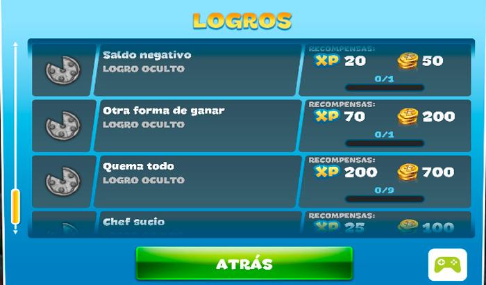 Logros Ocultos Cooking Fever