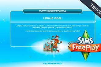 El Jugón de Móvil Guías y Trucos Los Sims Free Play - Misión 30 Linaje Real