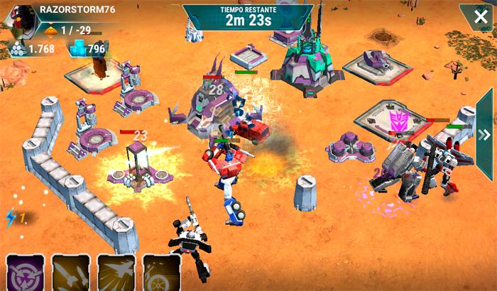 El Jugón De Móvil transformers earth wars partida