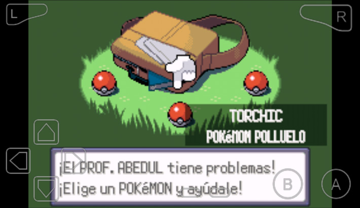El jugon de movil retrogameando pokemon esmeralda iniciales