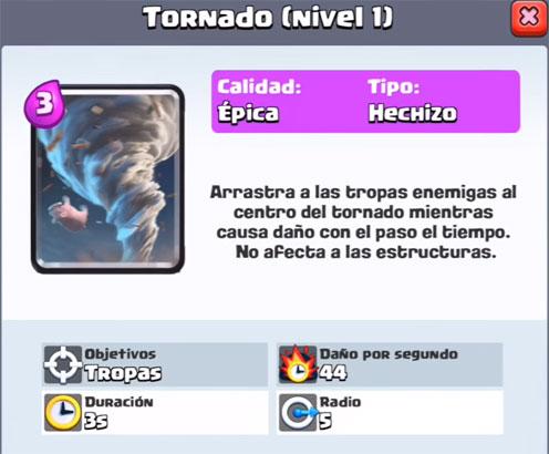 El Jugón De Móvil - El tornado es la nueva carta épica de Clash Royale