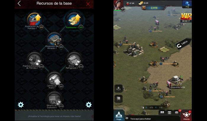 El Jugon de Movil Guia Last Empire War Z Investigación y mapa