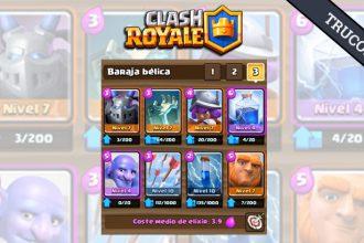 Clash Royale mazo top para desafíos