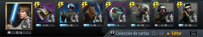 Mazo recomendado para subir a Cat.4 en Star Wars Force Arena