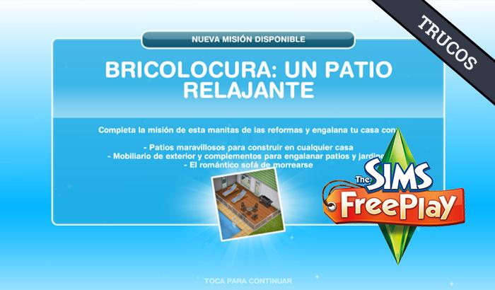 El Jugón de Móvil Guías y Trucos Los Sims Free Play - Misión 31 Bricolocura
