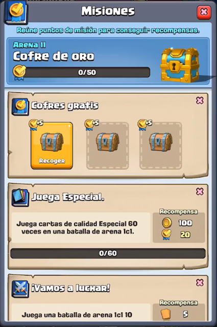 El Jugon De Movil Clash Royale Sneak Peek Misiones