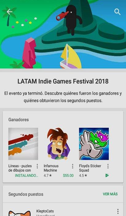 Ganadores del Latam Indie Games Festial 2018