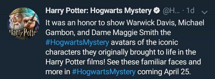 Es un honor presentar los Avatares de Warwick Davis, Michael Gambon y Maggie Smith